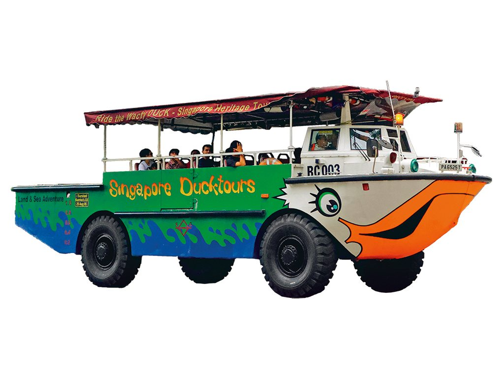 The Duck Boat is a reclaimed Vietnamese war craft. Photo: Stephen Lloyd Singapore/Alamy/Indiapicture