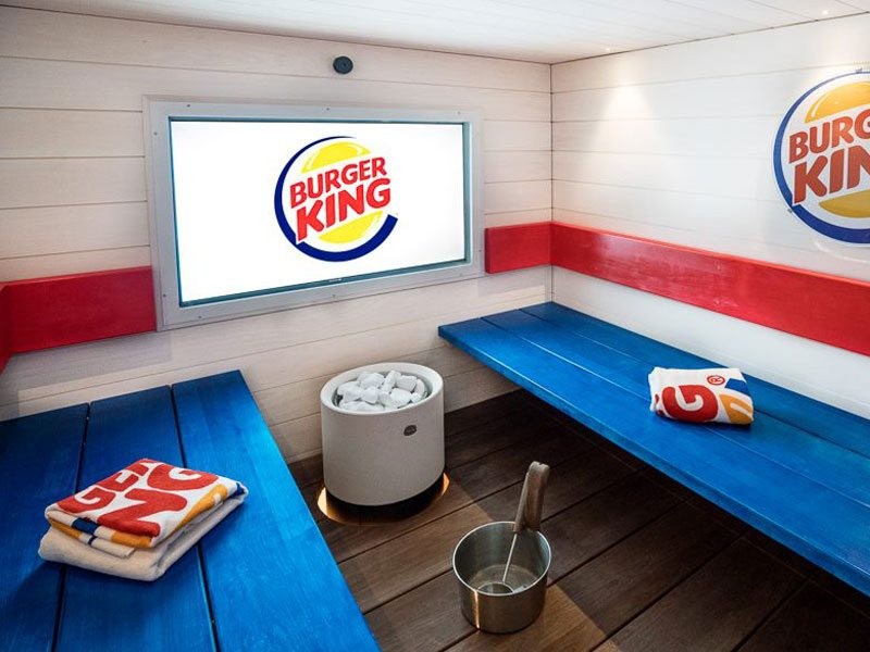 Burger King Sauna in Finland