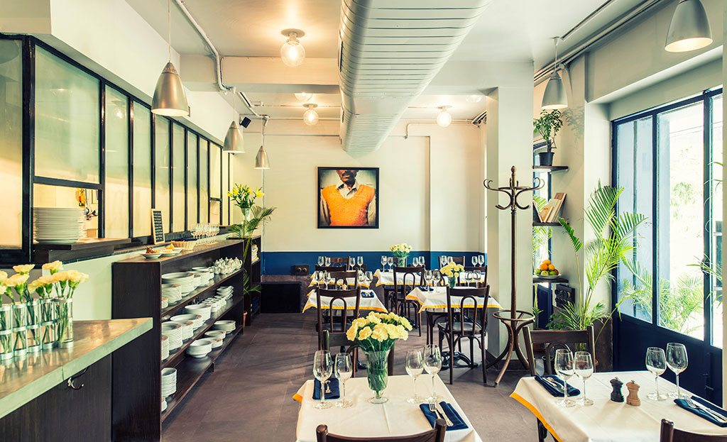 The chic Le Bistro Du Parc applies French technique to local produce to create a menu that changes with the seasons. The restaurant hosts live jazz performances on the terrace every Wednesday and Friday. Photo: Naina de Bois-Juzan