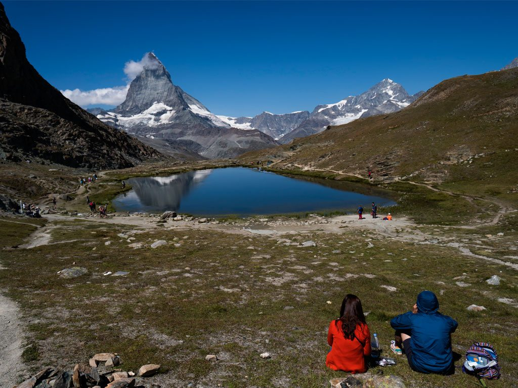 The Swiss village of Zermatt offers panoramic views of the famous Matterhorn mountain. Tourists flock to the observation platform at Gornergrat, but quieter ​trails too have worthy vistas. Photo: Sanjay Austa