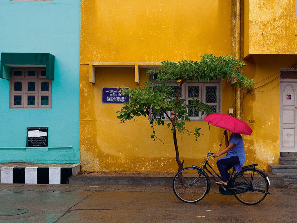 Pondicherry is a tiny, bicycle-friendly city. Sita Cultural Center, off Mission Street, conducts regular cycling tours for travellers. Photo: Claude Renault/Moment/ Getty Images