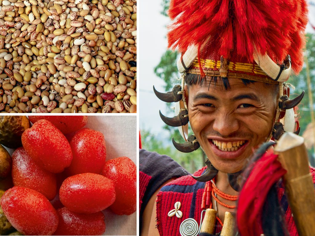 Naga tribesman, berries and beans