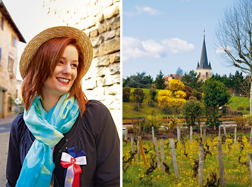 A lady and castles in Beaujolais