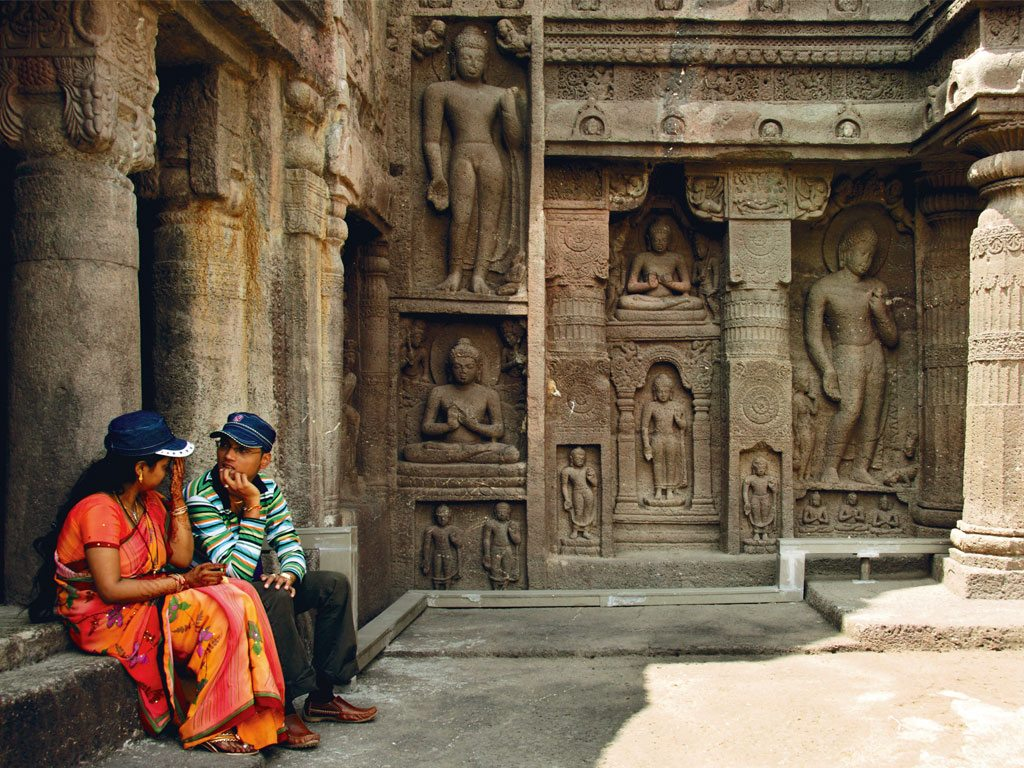 Ellora caves, locally called Velur Leni, has Brahmanical, Buddhist, and Jain excavations while the Ajanta site (pictured here) has only Buddhist caves. Photo: Chirodeep Chaudhuri