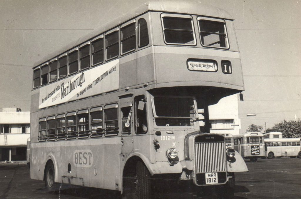 One of the first double-decker routes in the city ran from Colaba in the south to Mahim in central Mumbai.