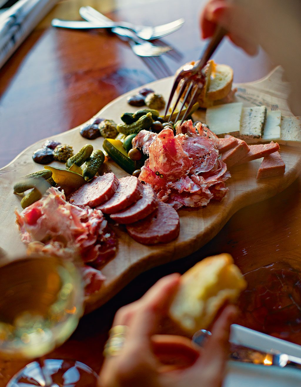 Cold cut platters at Valette, Sonoma