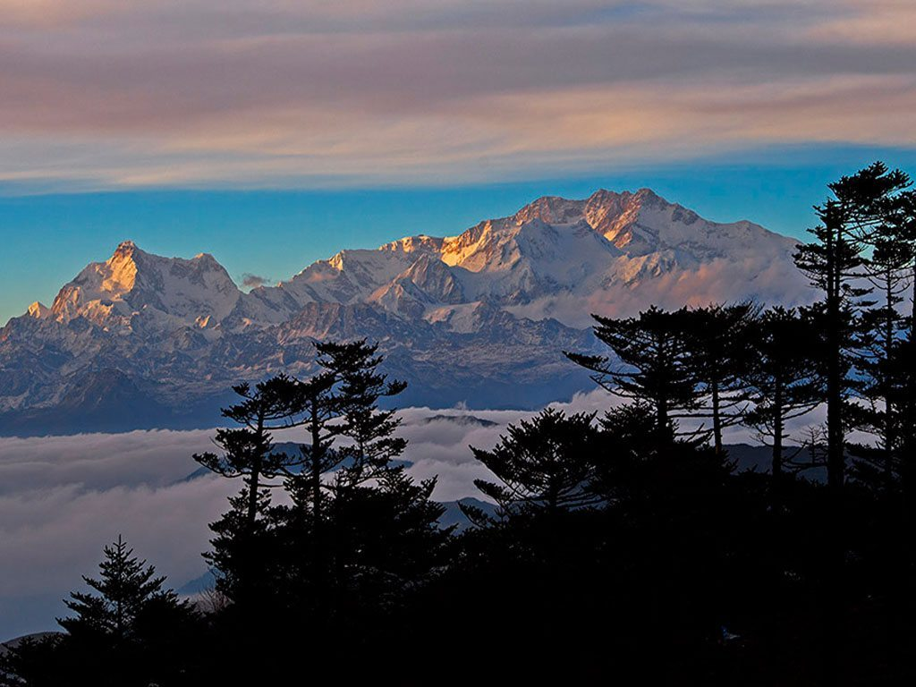 Sandakphu peak in Singalila National Park in West Bengal