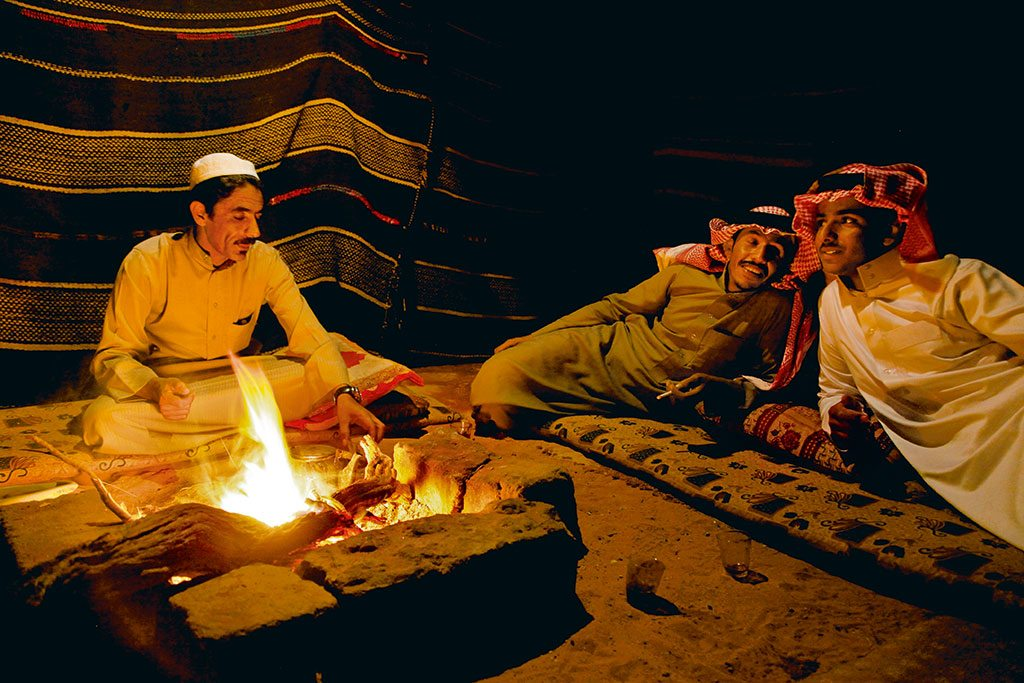 Wadi Rum has many desert camps run by the Bedouin people, nomadic groups that traditionally roamed the deserts of the Middle East. Photo: Yadid Levy/Alamy/Indiapicture