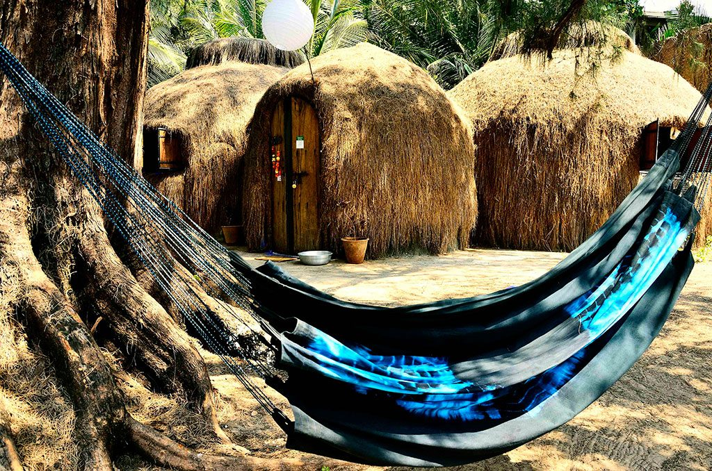Both kids and parents will love the family-friendly Yab Yum Resort. Sleep in a dome made of volcanic rock, or swing in a hammock under palm trees. Photo courtesy Yab Yum Resort