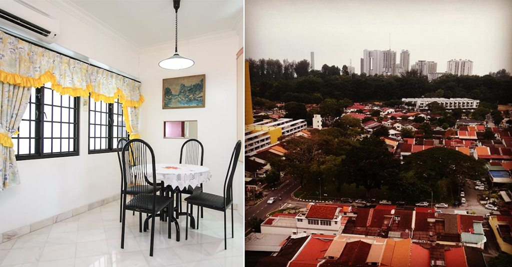 Henry's apartment (right) is simple, homely, and offers views (left) of Batu Lanchang, a suburb on the outskirts of Georgetown. Photos: Prathap Nair.