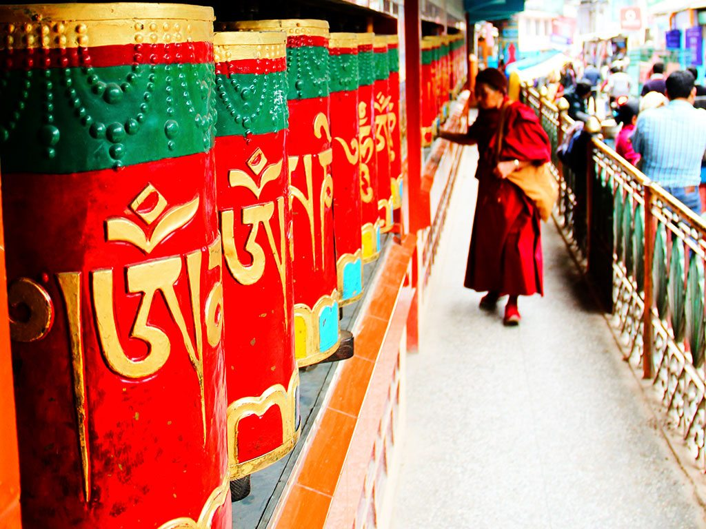 The quiet spinning of prayer wheels marks time at Dharamshala, home to a strong Tibetan Buddhist community. Photo: Erik Grootscholte/Flickr/Creative Commons (http://bit.ly/1jxQJMa)