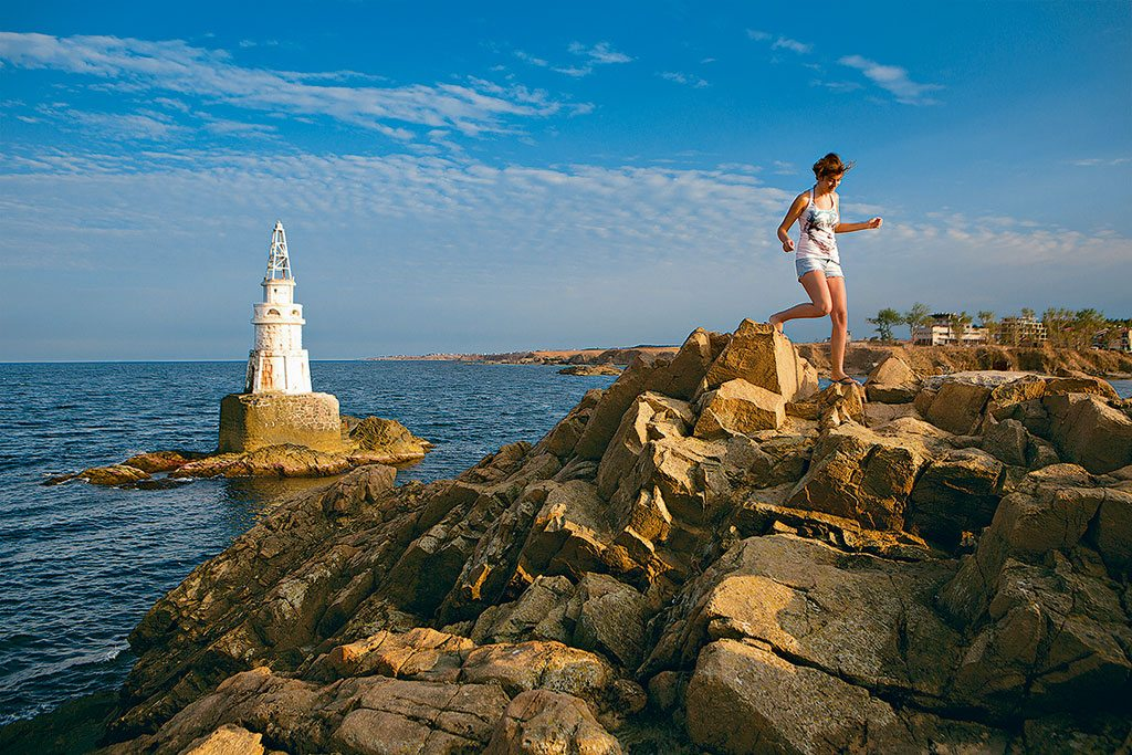 Ahtopol Lighthouse, Bulgaria.