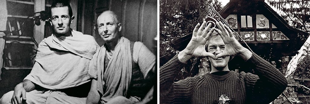 British citizens Krishna Prem and his disciple Madhava Ashish (left) founded the Mirtola ashram; Italian writer Tiziano Terzani (right) spent years here meditating and writing in a tiny mountain hut. Photos: Shikha Tripathi