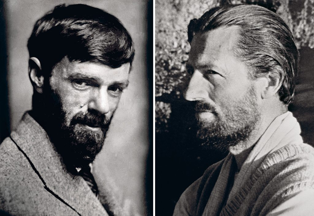 Kasar Devi's magnetism has drawn writers, artists, spiritual leaders, and eccentrics through the years. English writer D.H. Lawrence (left) spent two summers at the home of American painter Earl Brewster; Timothy Leary (right), Harvard psychologist and exponent of psychedelic drugs, was famous for streaking across Crank's Ridge. Photo: Photo Researchers/Science Source/Dinodia Photo Library (D.H. Lawrence), Ullstein Bild//Contributor/Getty Images