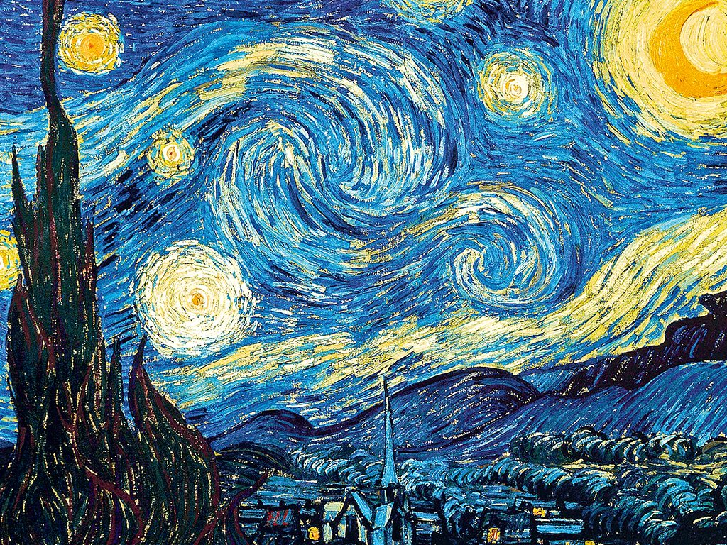 """""""The Starry Night"""" by Dutch artist Vincent van Gogh, has drawn multiple interpretations by art historians. Unlike the swirls of the painting, where the stars appear to be in motion, the Goa night sky is clear and perfect for studying celestial phenomena for most of the year. Photo: Wiki Paintings"""