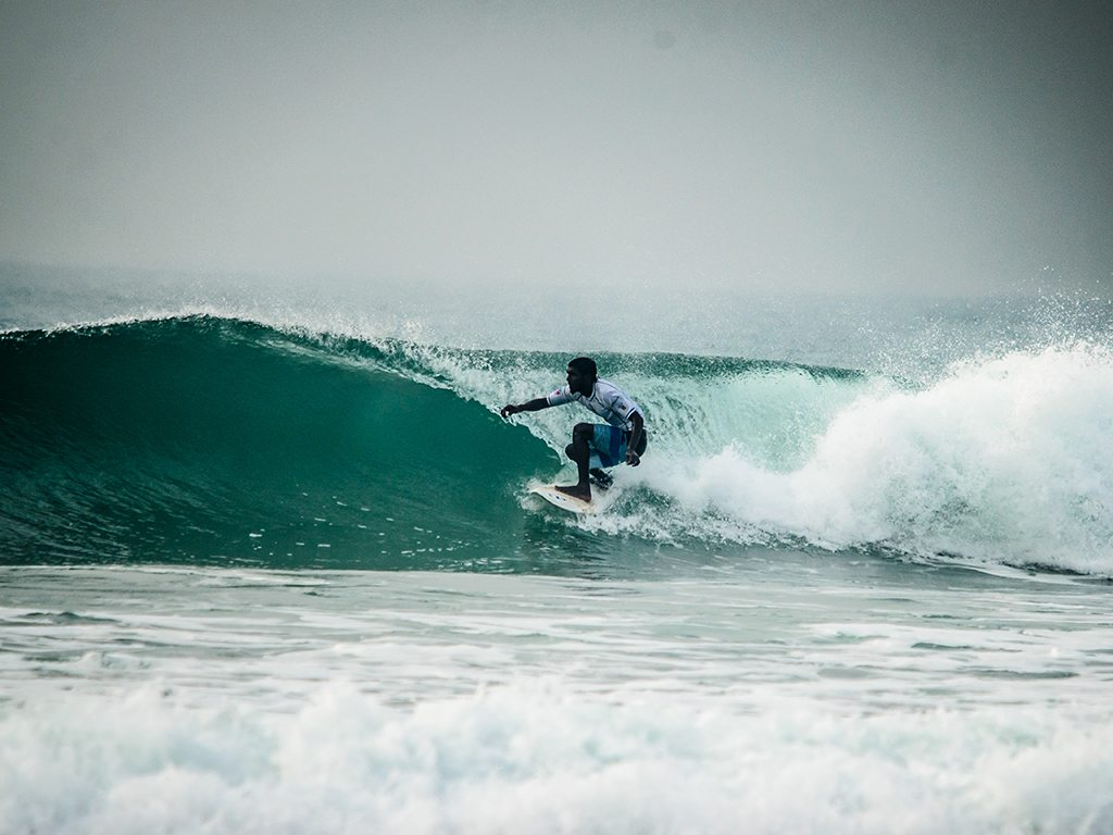 A surfer at the India Surf Festival