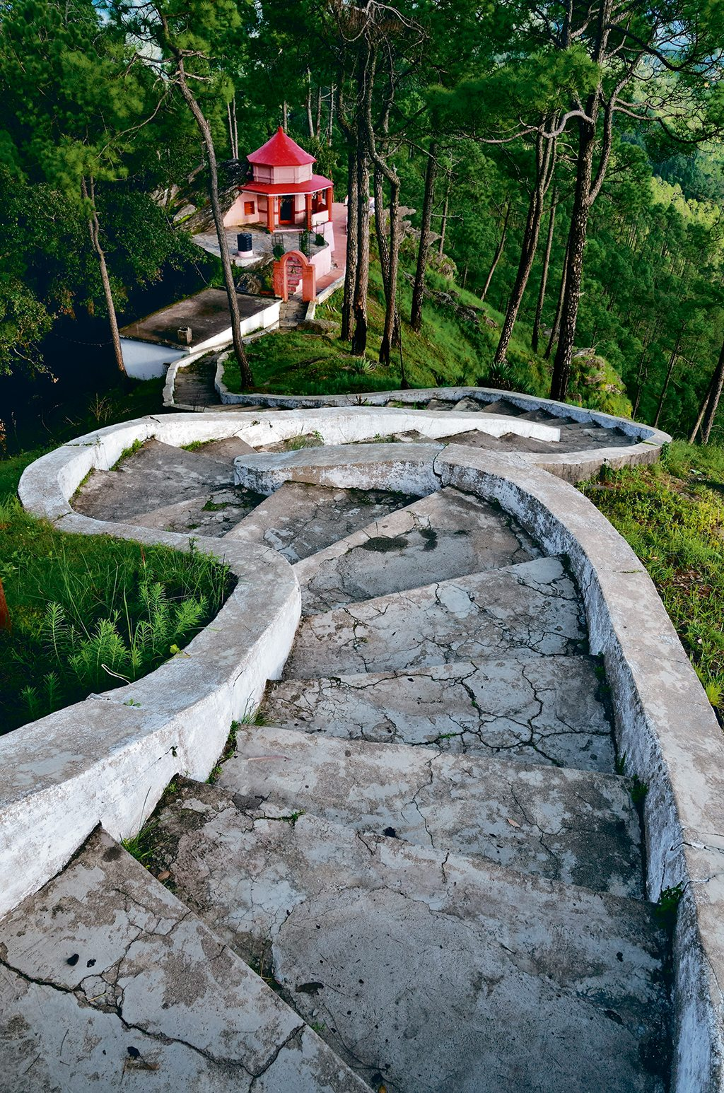 Kasar Devi temple, amidst verdant pine and deodar forests, is an ancient shrine dedicated to an avatar of the Goddess Shakti. Photo: Oleksandr Rupeta/Age Fotostock/Dinodia Photo Library