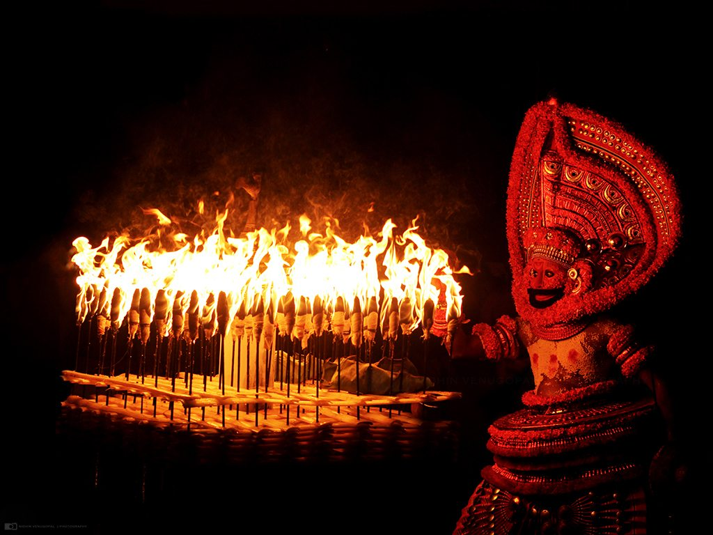 theyyam, photo by Nidhin Venugopal