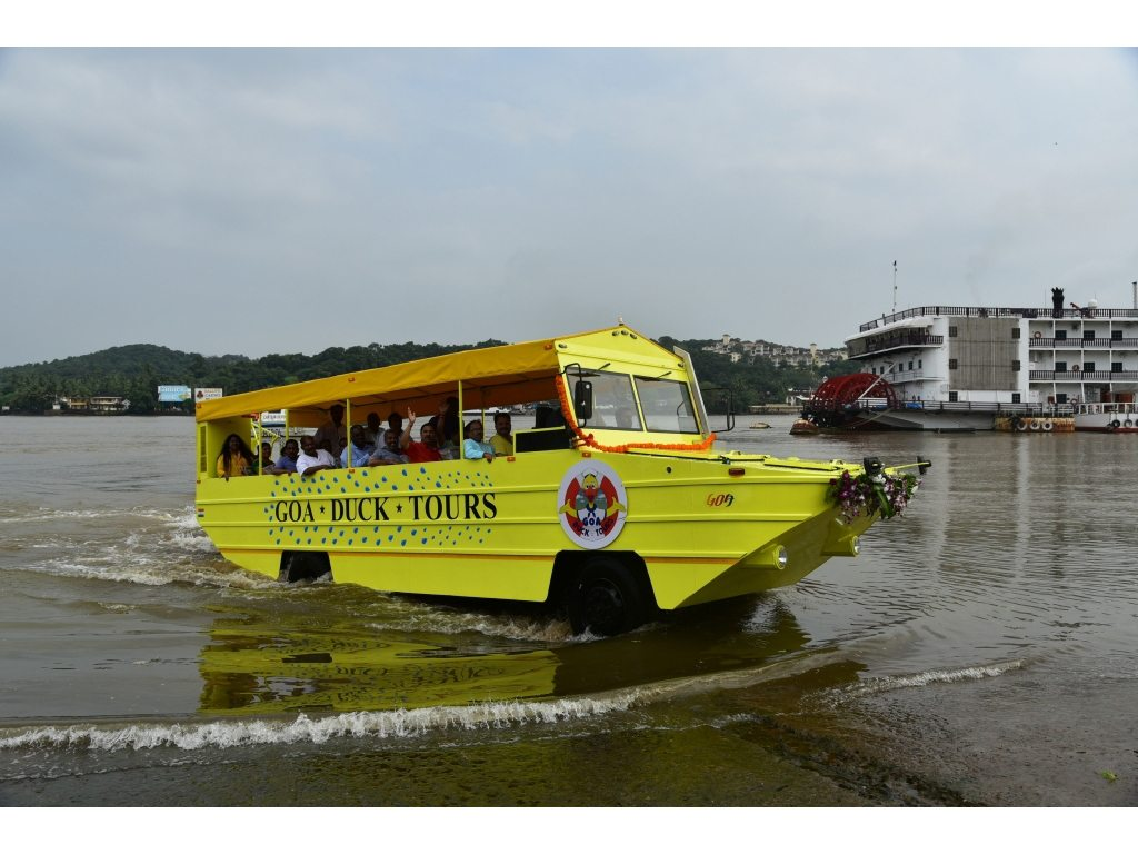 Goa's duck boats will give travellers new perspectives on the sunshine state, from both land and water. The vessels are modelled on the amphibious Vietnamese warcraft used during World War II. Photo courtesy Goa Tourism