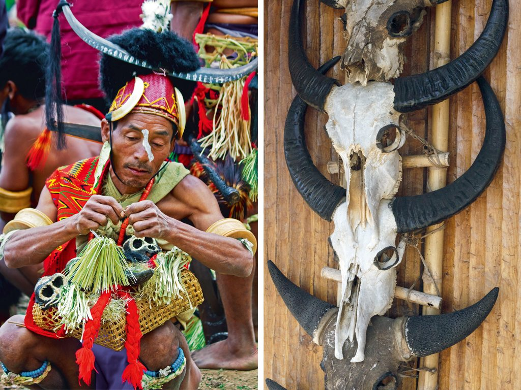 Locals at the Hornbill Festival