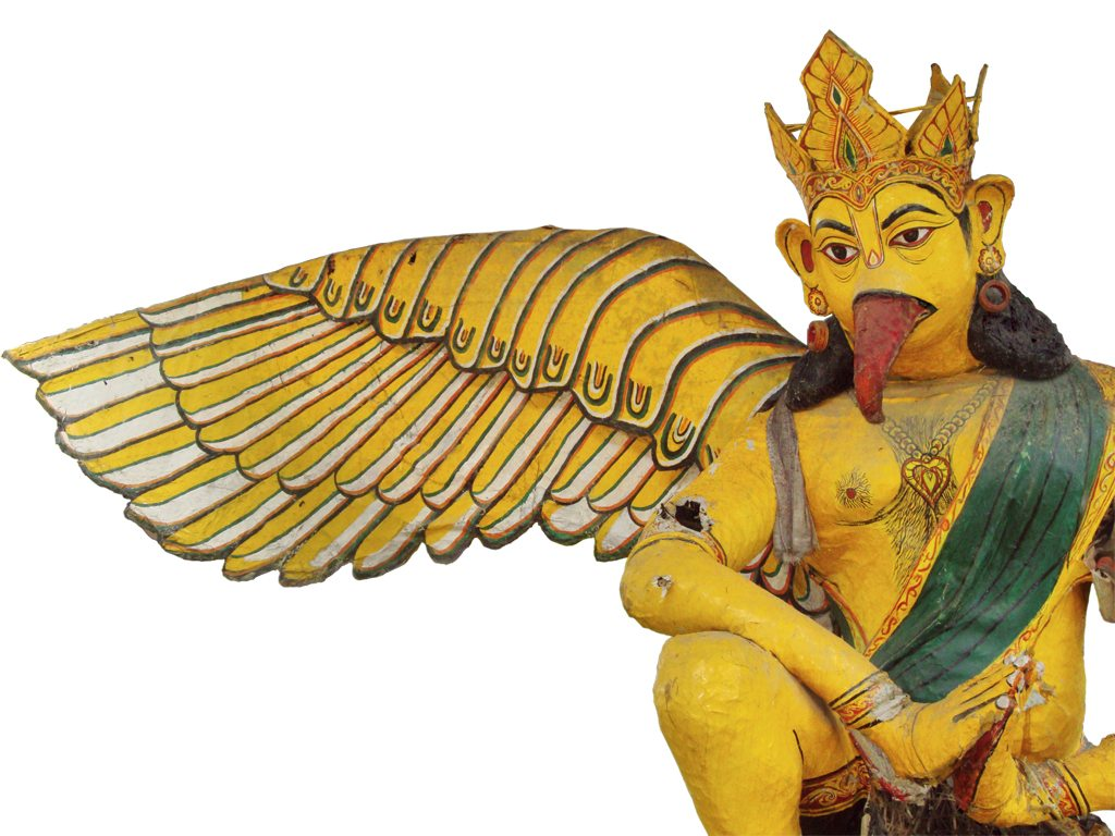Each of Majuli's satras specialise in a certain craft. The Garamur Satra is known for its idols, like this one of Garuda, Lord Vishnu's vehicle. Photo: Anurag Mallick and Priya Ganapathy