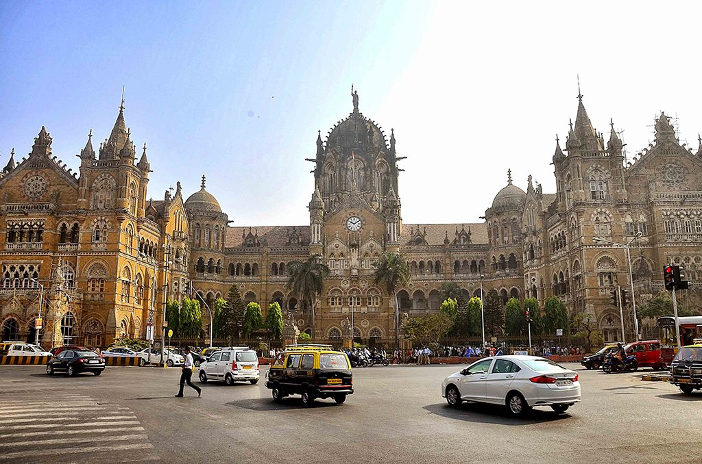 The Chhatrapati Shivaji Terminus is a Gothic masterpiece, with incredible architectural detail. Look out for the stone gargoyles and the sculptures of the lion and tiger that guard the main gates. Photo: Sharrell Cook