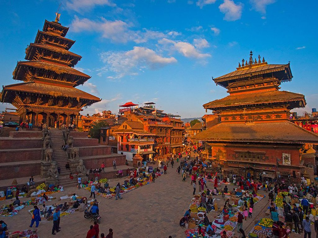 Much of historic Bhaktapur, a former royal capital on the outskirts of Kathmandu, crumbled during the 2015 earthquake. A few were spared, like Nepal's tallest pagoda, the five-story Nyatapola Temple pictured here, which was also unharmed in the massive 1934 earthquake. Photo: Dhritiman Mukherjee
