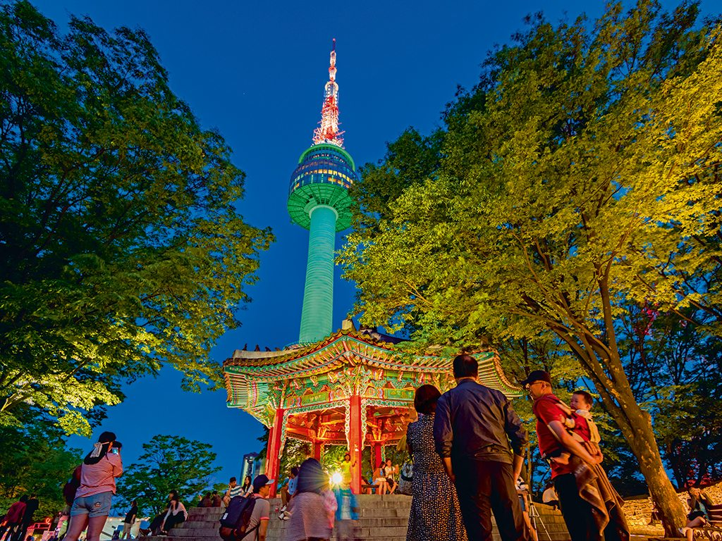 N Seoul Tower glows a different colour everyday. Photo: CJ Nattanai/Shutterstock