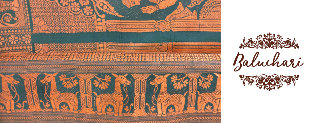 Baluchari handloom sari West bengal India