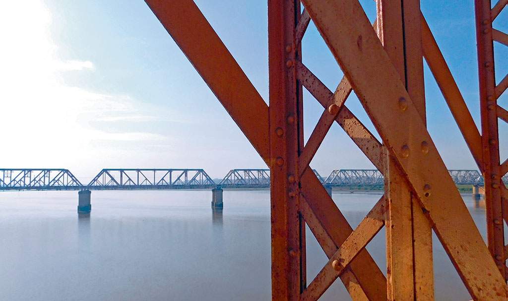 Silver Jubilee Railway Bridge, Bharuch, Gujarat, India