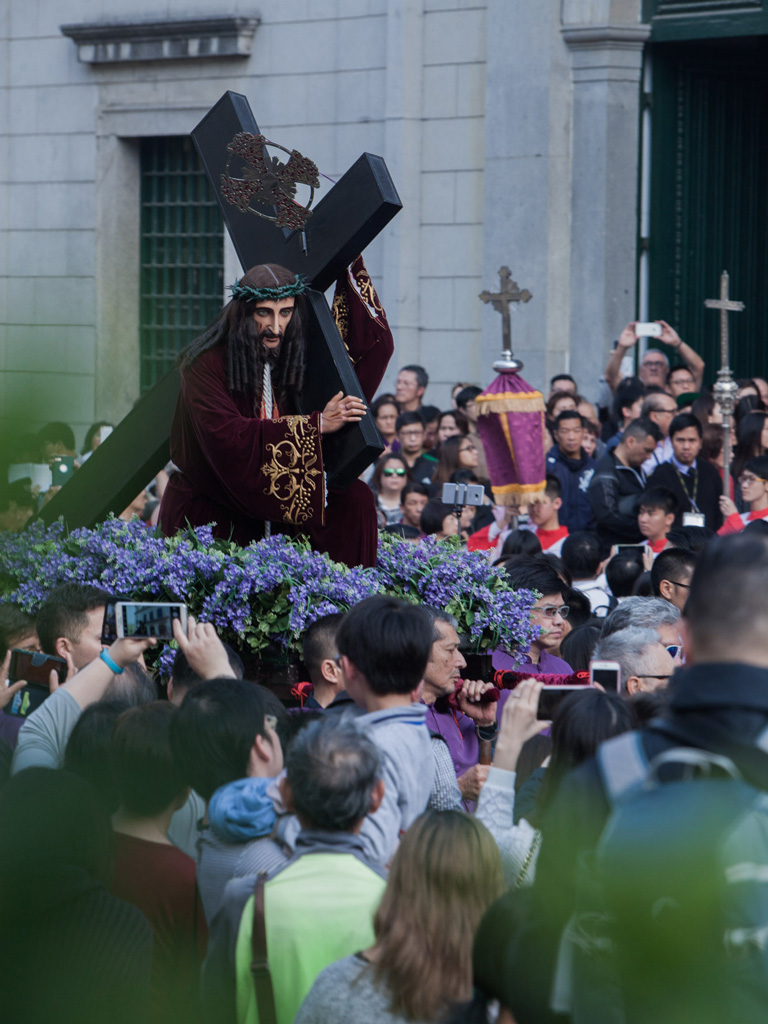 Statue of Christ in a procession in Macao