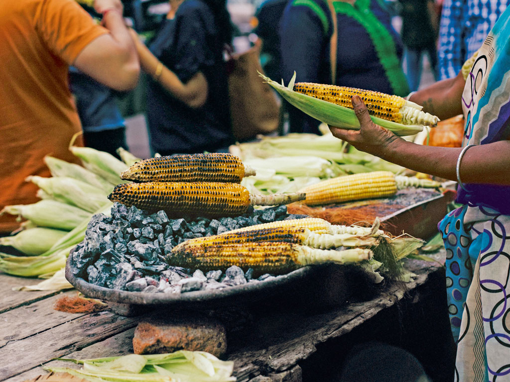 roasted corn in bangalore