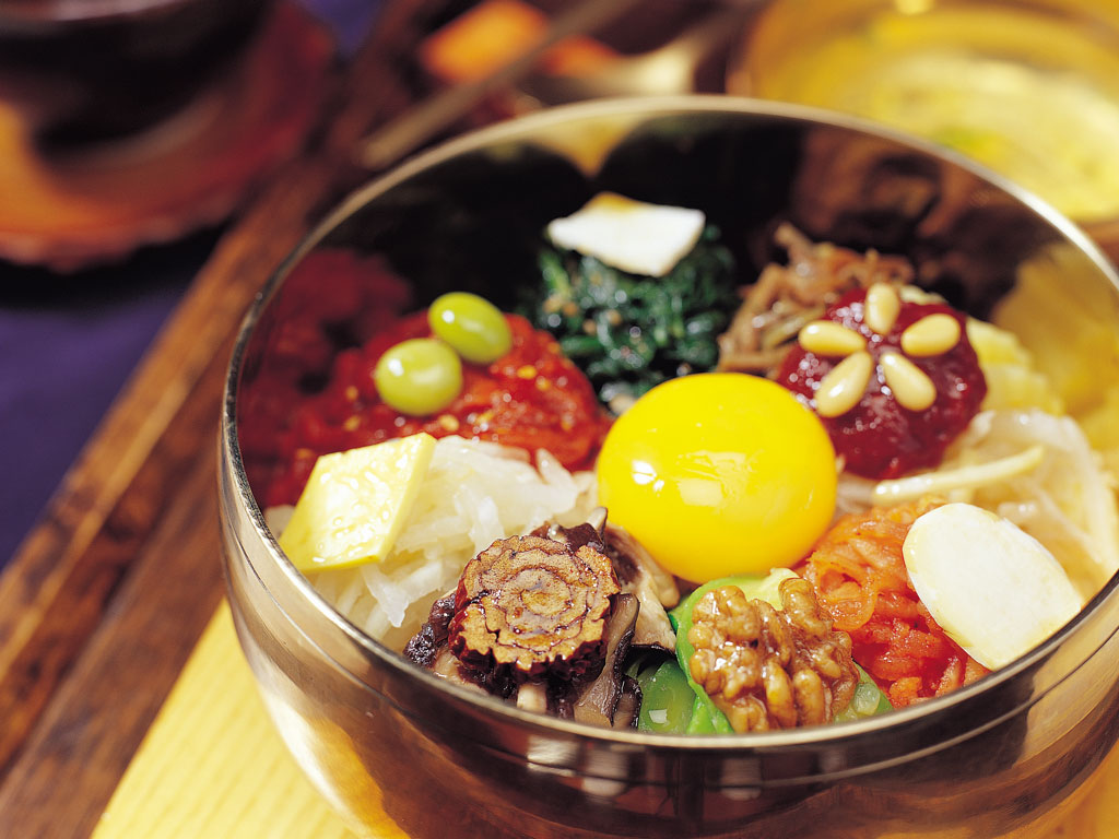 Bibimbap (rice with vegetable and meat), a popular Korean dish. Photo Courtesy: Korea Tourism Organization