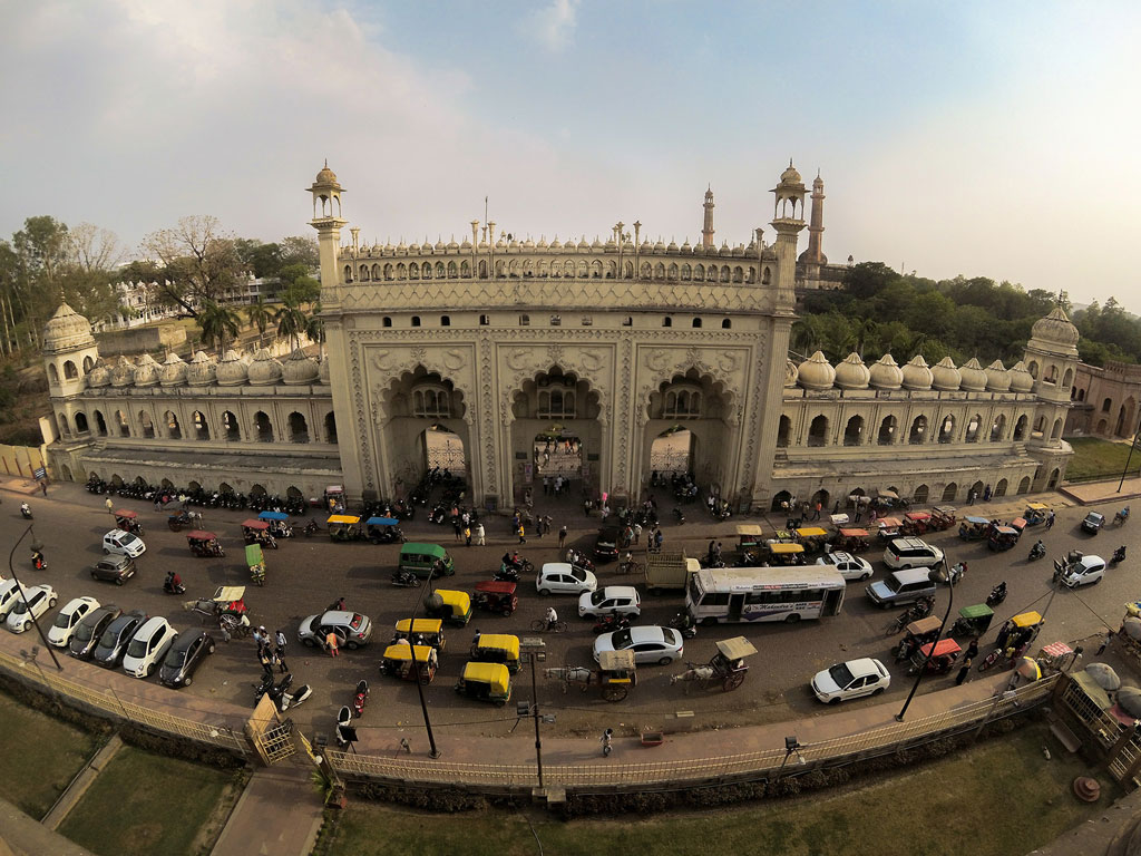 Photography is a lot about perspective. This picture of Lucknow's Bada Imambada was clicked from Naubat Khana.