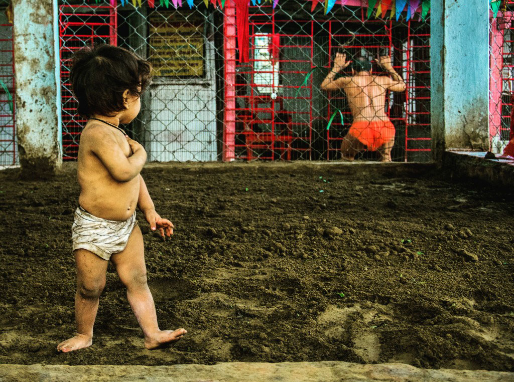 The akhara in Mallick Ghat, Kolkata, has many toddlers learning the ropes of the sport.