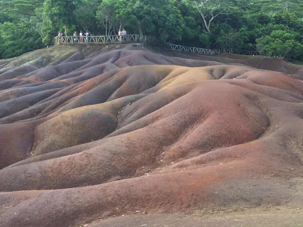 Seven-coloured Earths' near Cascades Chamarel, Mauritius