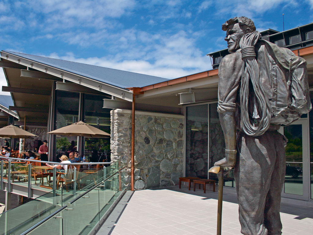 The statue of Sir Edmund Hillary