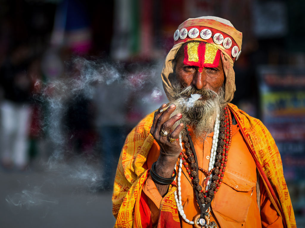 To absorb the local flavour of the town, an interaction with the sadhus, or holy men, is a must. Photo by Amith Nag Photography/ Moment / Getty Images.
