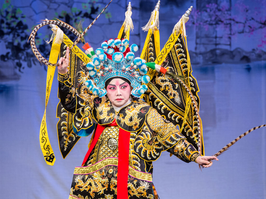 Yang Yue, a general of the Sui dynasty, played by Szeto Chui-ying, is one of the increasingly popular actors of the stage and among the talent showcased by the Chinese Artists Association of Hong Kong, a body promoting Cantonese opera in the city. Photo Courtesy: Chinese artists association of Hong Kong