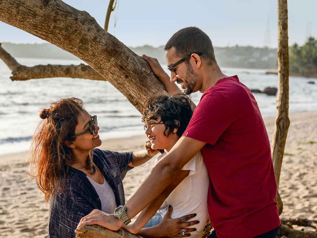 Downtime in Goa is now spent building sandcastles and chasing sunsets with Udyan's family at one beach or the other. Photo courtesy: Red Bull Media House