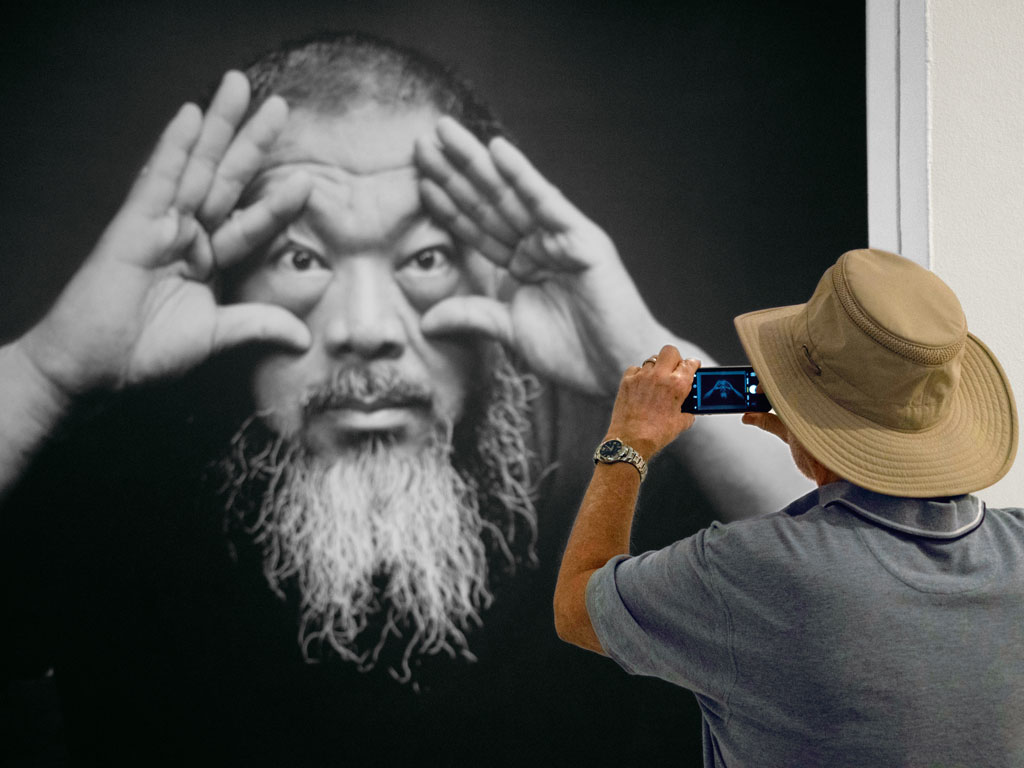 """Ai Weiwei's solo project """"Trace"""" is showing at the Hirshhorn Museum and Sculpture Garden till January 1, 2018. The Chinese artist has used Lego parts to draw portraits of the world's political dissenters."""