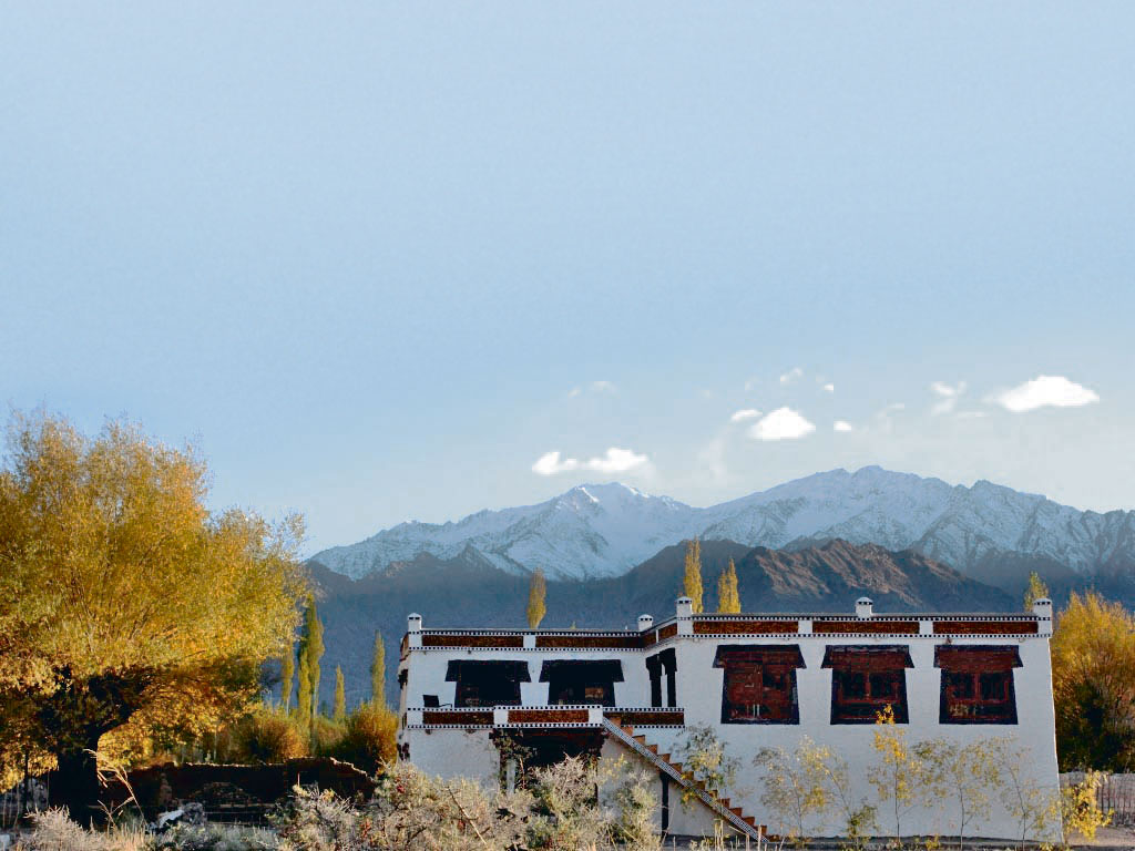 Every cottage in Shey Bhumi affords scenic views of Zanskar and Ladakh mountain ranges. Photo Courtesy: Kaya Dorje