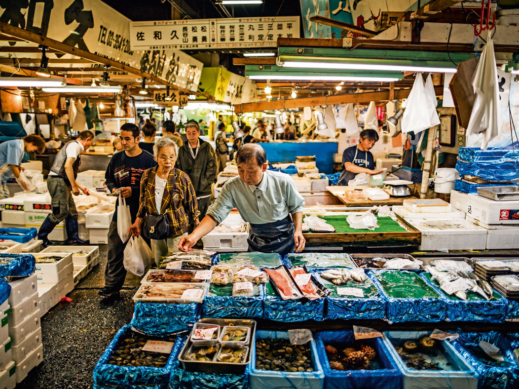 Cheung's favourite souvenir is a set of chef knives he bought at Tokyo's Tsukiji Fish Market, a busy indoor market that's best known for its 5 a.m. tuna auctions. Photo by Aluxum/iStock.