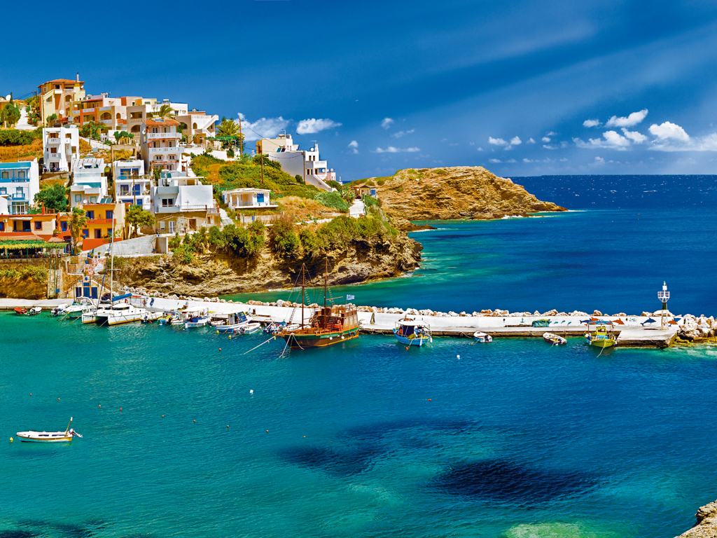 "One of her favourite destinations is Crete. ""It's not crowded with tourists and the seaside is so empty and blue."" Photo by Chasdesign/iStock."