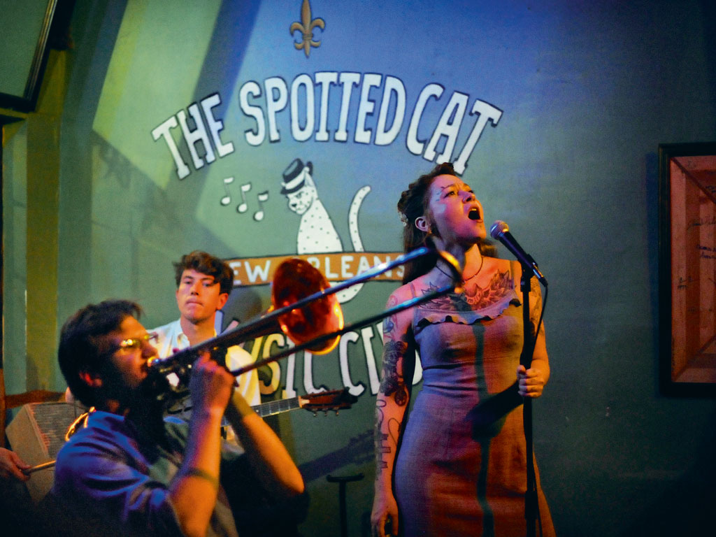 The Spotted Cat in Faubourg Marigny is a must-visit. The club often hosts big-ticket performers such as Meschiya Lake and the New Orleans Cottonmouth Kings. Photo by: Cyrus McCrimmon/Contributor/Denver Post/Getty Images