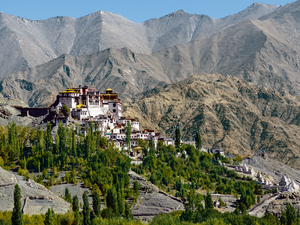 The 15th-century Matho Monastery is perched on a hilltop overlooking the village of Matho at the mouth of a deep gorge in the Zanskar Range. Photo by: Grant Dixon/Lonely Planet Images/Getty Images