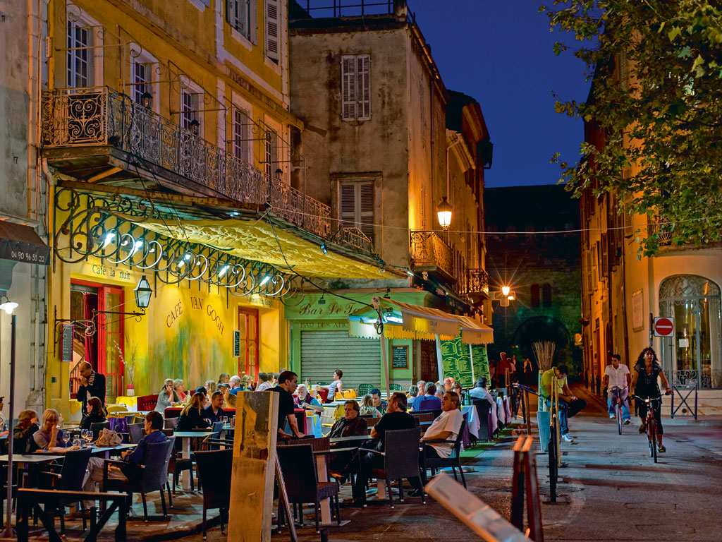 Van Gogh was a regular at Café Terrace at Night (now Café Van Gogh) along with his friend Gauguin and was known among the locals as the red-haired foreigner. Photo by: nvrst/Alamy/indiapicture