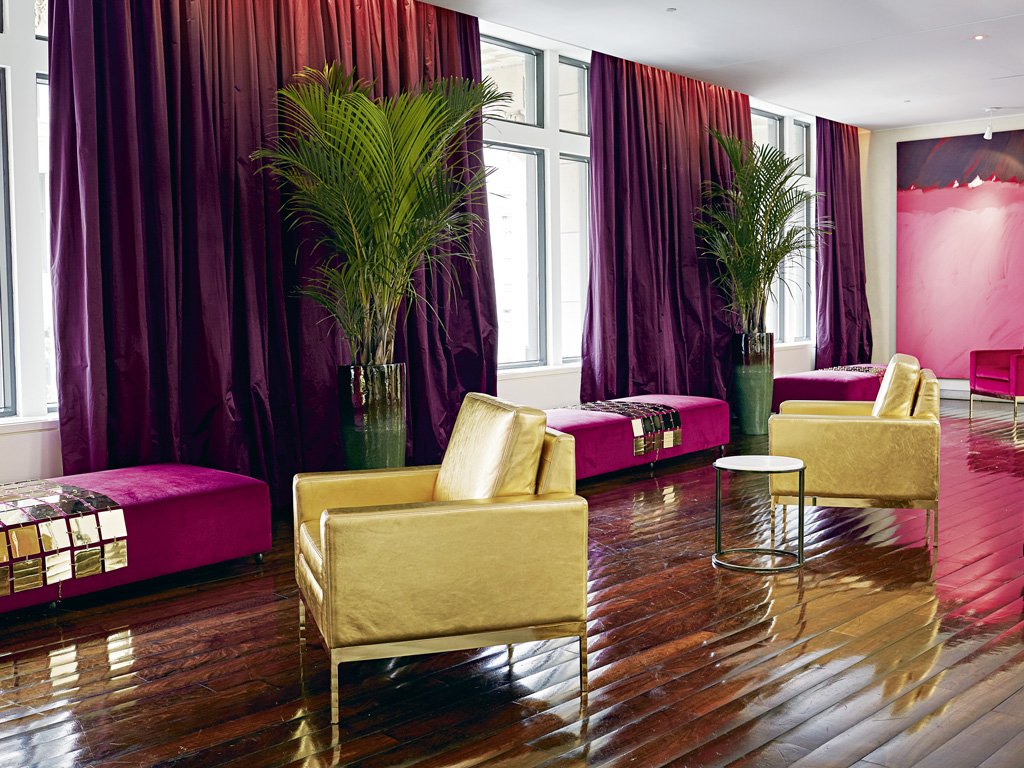 The Hotel St. Paul's colourful lounge. Photo Courtesy: Design Hotel
