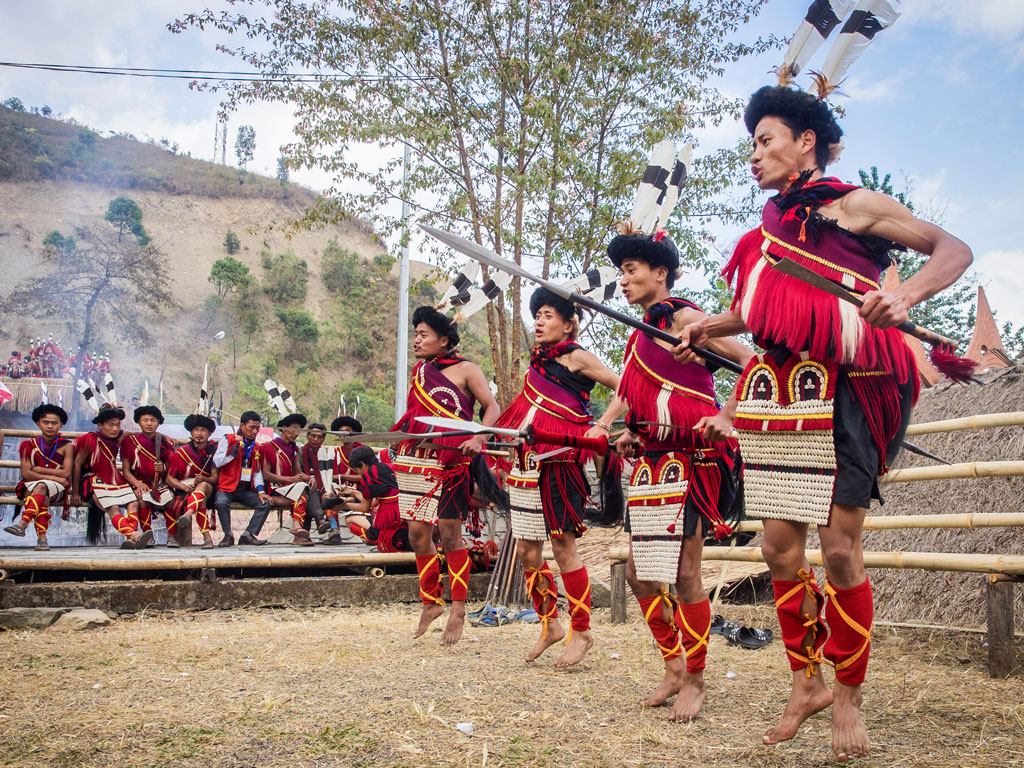 Nagaland's Ao tribe are easily considered the best dancers at the Hornbill Festival. Photo by Abhishek Hajela