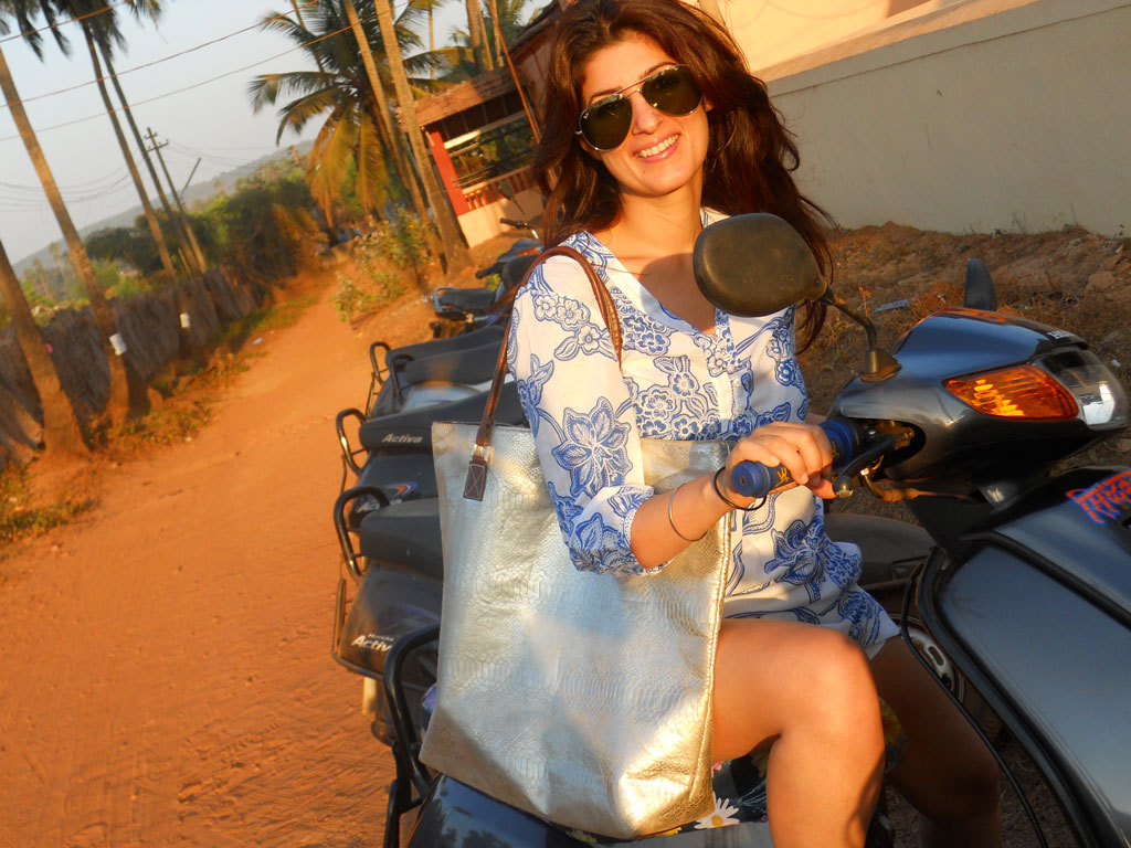 Twinkle Khanna is happiest when she visits her home in Anjuna, Goa, because she can just roam around in shorts and a kurta. Photo Courtesy: Twinkle Khanna